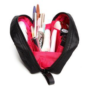 Nylon kosmetisk väska för kvinnor utomhus Portabel liten reselagerväska