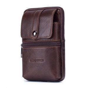Genuine Leather Vintage 6 Inch Phone Bag Waist Bag
