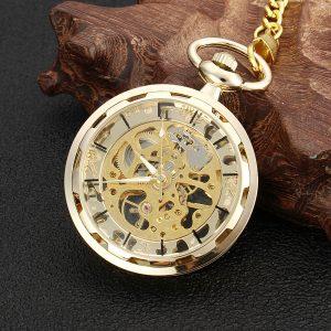 Mechanical Hollow Skeleton Pocket Watch