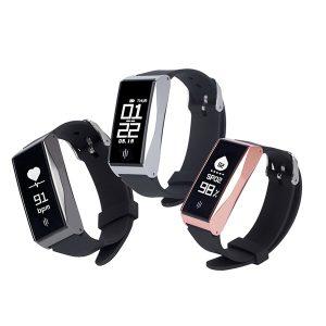 KALOAD BL86 Smart Bracelet Heart Rate Blood Pressure Oxygen Monitor Waterproof Wristband