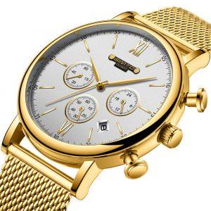 GIMTO GM246 Calendar Chronograph Stainless Steel Quart Watch