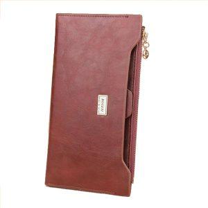 Kvinnor män läder ID-korthållare lång plånbok blixtlås väska kapacitet kopplingar