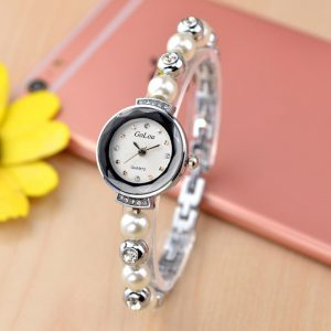 Fashion Diamond Elegant Pearl Armband Watch Quartz Watch