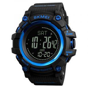 SKMEI 1356 Compass Pedometer World Time Sport Digital Watch