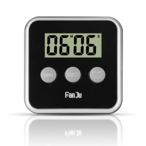 FanJu FJ231 Digital Timer Countdown Magnetic Large Display Loud Alarm Mini Back Stand Cooking Timer