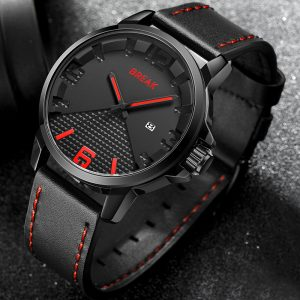 BREAK 3301 Casual Style Waterproof Leather Strap Men Watch