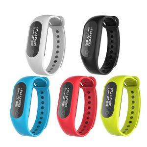 B15S 0,86 tum OLED Hjärtfrekvens Blod Oxygen Pressure Monitor Pedometer Smart Armband För iphone X 8