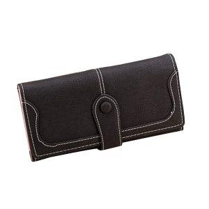 Damer Retro långa mattma plånböcker Purse Clutch Bag