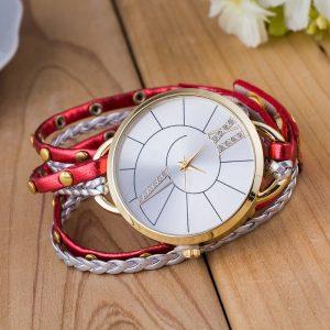 Enkel urtavla läderrem kvarts klocka kvinnor armband klocka