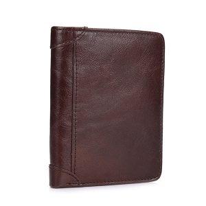 Äkta läder vintage solid plånbok plånbok för män