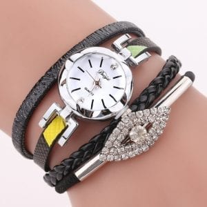DUOYA D256 Retro Style Diamond Gift Women Bracelet Watch