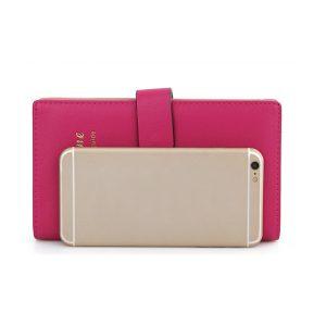Kvinnors godisfärg Hasp Transparent 65 korthållare Business Kreditkortsväska Lång plånbok
