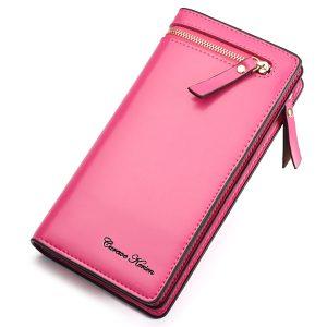 Elegant PU-läder med flera kortlånga plånböcker för korthållare för kvinnor