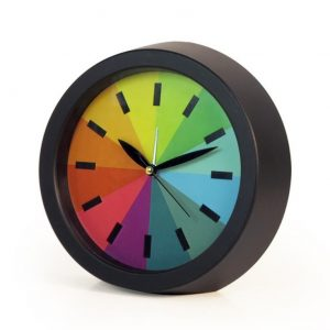 Creative Silence Rainbow Colorful Alarm Desk Modern Office Gift Bedroom Mute Fashion Hanging Clock