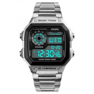 SKMEI 1335 Fashion Chronograph Digital klocka i rostfritt stål
