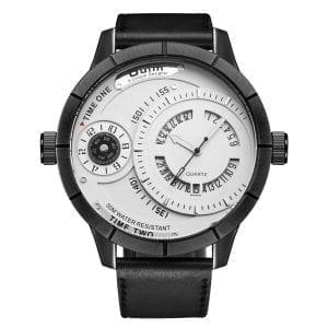 OULM HP6032 Unique Design Calendar Creative Watch Genuine Le
