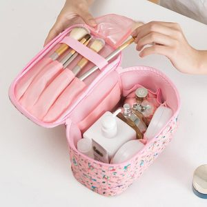 Women Faux Leather Wash Bag Waterproof Cosmetic Bag