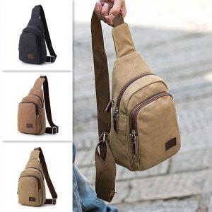 Canvas Casual Multi-function resväska Crossbody Bag