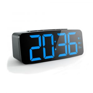 YGH-5230 Digital LED Alarm Clock Five-Speed Adjustable Bedside Clock Snooze Clock