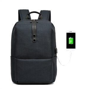 Herr ryggsäck för män med USB-laddningsport