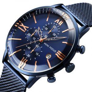 MINI FOCUS MF0236G Business Chronograph Men Quartz Watch