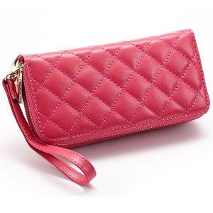 Kvinnor Lingge äkta läder kopplingar väska korthållare plånbok
