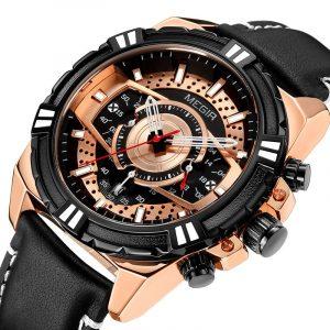 MEGIR 2118 Sports Style Complete Calendar Men Wristwatch