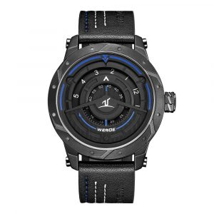 WEIDE UV1708 Casual Style Leather Strap Clock Creative Watch