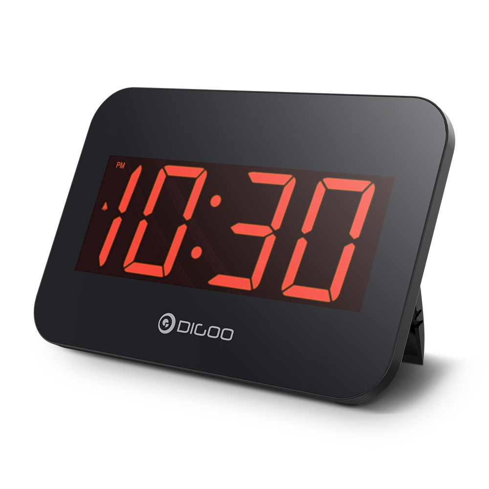 [2019 Third Digoo Carnival] Digoo DG K4 LED Multifunctional Time Snooze Automatically Electronical Digital Alarm Clock with Backlit Large LED Display