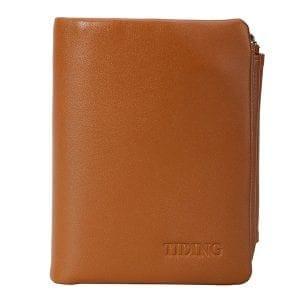 Äkta läder Multi-function män plånbok korthållare Coin Purse SIM-kortarrangör