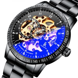 IK FÄRGNING 98226G Skeleton Dial Automatic Mechanical Watch