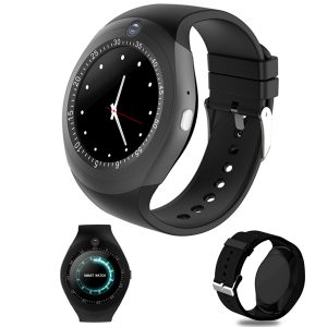 1,54 tum TF-kort GSM Sleep Monitor Pedometer bluetooth Pedometer Camera Smart Watch För Android IOS