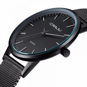 CRRJU 2117 Lyxigt herrmode Ultra Thin Quartz Armbandsur