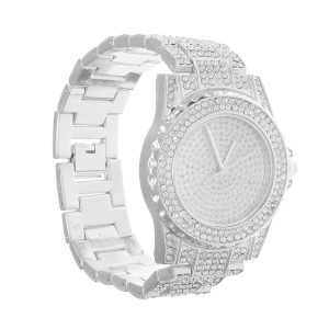 DEFFRUN Luxury Diamond Crystals Smooth Surface Women Quartz