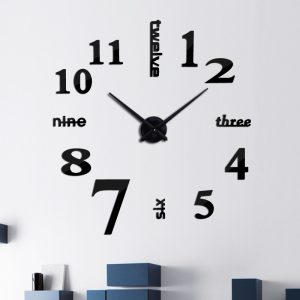 Creative DIY Acrylic Mirror Large Wall Clock Quartz Watch Still Life Modern Clocks Needle Living Room Home Decor Stickers