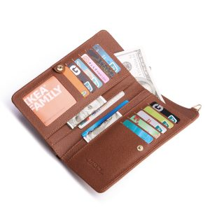 6,3 tums telefonväska PU-läder bärbar plånbokskortshållare