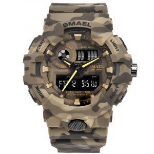 SMAEL 8001 Camouflage Militray Dual Display Digital Watch