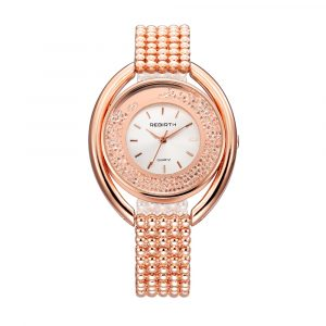 REBIRTH RE079 Fashion Diamond Steel Strap Women's Quartz Watch