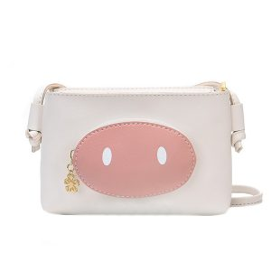 Kvinnor Faux Leather Cute Pig Crossbody Bag