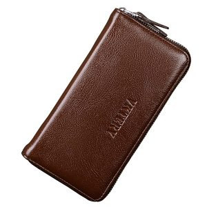 Men Business 12 Card Slots Phone Wallet Clutch Bag