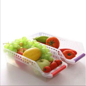 Fridge Refrigerator Storage Drawer Box Hollow Food Fruit Vegetables Drinks Kitchen Organizer