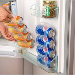 Honana CF-KT04 Cans Storage Box Refrigerator Fridge Organizer Four Case Sauce Bottle Container