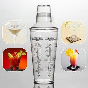 700ML Professional Transparent Plast Margarita Drink Shaker Mixer Party Cocktail Shaker Bartending Verktygsmaterial Bartender Drink Mixer
