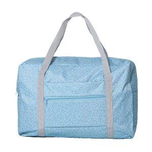 Women Nylon Little Flowers Travel Bag Floral Duffel Bag Luggage Bag Handbag