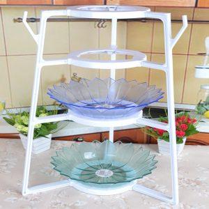 4 Layers Home Kitchen Cookware Organizer Pan Pot Dishes Case Holder Kitchen Storage Rack