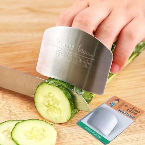 Honana 1Pc  Kitchen Tools Stainless Steel Finger Hand Protector Finger Hand Guard  For Cutting Slice Chop Safe Slice Cooking Finger Protection Tools