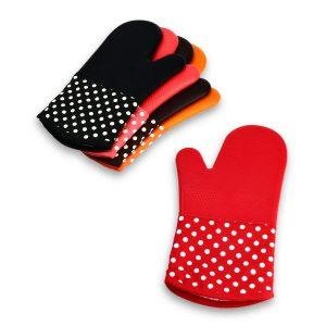KCASA KC-PG091 1Pc Silikon Bomull Mikrovågsugn Mitt BBQ Ugn Värmebeständig Potthållare Handske