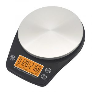 6,6 £ / 3 kg 2,4-tums LCD-skärm Bärbar digital skala Kaffeskala Kök Timer Mat Kosthold Postrum Kontor Balans Vikt skalor