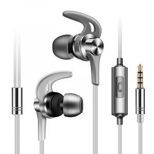 Fonge J02 Metal Sport Running Bullerreducerande hörlurar med hörlurar med mikrofon för mobiltelefon Xiaomi
