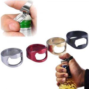 HONANA Rostfritt stålöppnare Fingerring Form Flasköppnar Bar Verktyg Köksöppningsverktyg